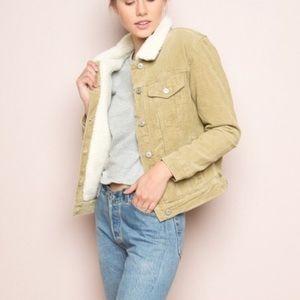 BRANDY MELVILLE elisha fur corduroy jacket